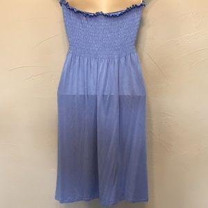d85140d1e11 MICHAEL Michael Kors Dresses - Michael Michael Kors Blue Strapless Light  Sundress